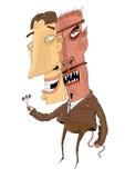 Плохой человек предусматриванный с маской хорошего человека Стоковое Изображение