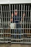 Плохой человек, тюрьма, пленник, каторжник Стоковое фото RF