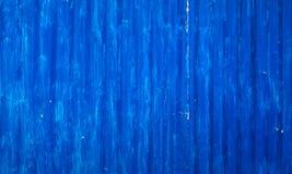 Плохо покрашенная, который развевали предпосылка сини металлического листа Стоковые Изображения