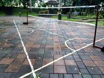 Площадка для бадминтона Стоковое Изображение