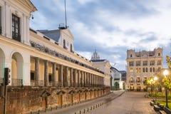 Площадь большая в старом городке Кито, эквадоре Стоковая Фотография RF
