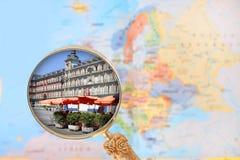 площадь Испания мэра madrid стоковые фото