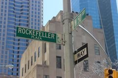 Площадь Рокефеллер Стоковые Изображения RF
