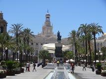 Площадь Сан-Хуан de Dios в Кадисе, Испании стоковое изображение rf