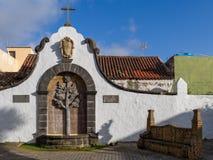 Площадь Тереза de Bolivar в Teror, Gran Canaria стоковая фотография rf