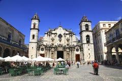 Площадь de Ла собор Ла Гаваны Стоковое Фото