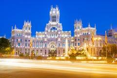 Площадь de Ла Cibeles Мадрид Стоковые Фото