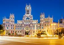 Площадь de Ла Cibeles Мадрид стоковое изображение rf