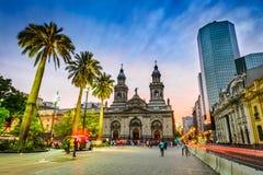 Площадь de Armas, Сантьяго de Чили, Чили Стоковые Изображения RF