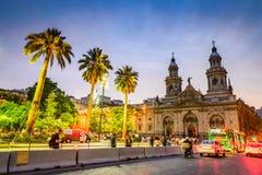 Площадь de Armas, Сантьяго de Чили, Чили Стоковое Изображение