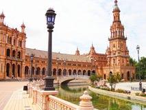 Площадь de España Севилья Испания Стоковое фото RF
