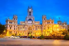 Площадь de la Cibeles, Мадрид, Испания Стоковое Фото