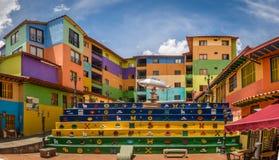 Площадь de los Zocalos - Guatape, Колумбия стоковая фотография