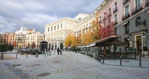 Площадь de Oriente, Мадрид, Испания Стоковые Фотографии RF