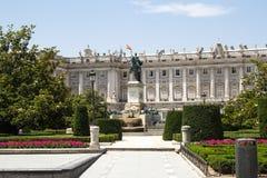 Площадь de Oriente, статуя Felipe IV madrid Стоковое Фото