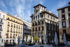 Площадь de Ramales, Мадрид, Испания Стоковое Фото
