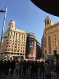 Площадь del Callao, Мадрид, Испания Стоковые Изображения RF