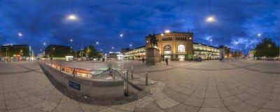 Площадь Ernst-августа в Ганновере. Панорама. Стоковая Фотография