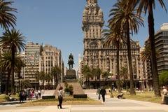 Площадь Independencia, Монтевидео, Уругвай Стоковое Изображение