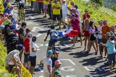 Площадь Molina - Тур-де-Франс 2016 Рубна велосипедиста Стоковое Изображение RF
