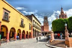 Площадь San Miguel de Альенде Главным образом Стоковые Фото
