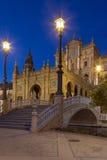 площадь seville Испания de espana Стоковые Фото