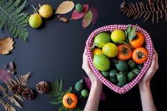 Плодоовощи в корзине Стоковое Изображение RF