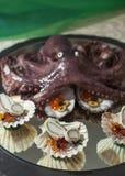 Плодоовощи еды пальца моря с осьминогом Стоковое фото RF