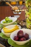 Плодоовощи завтрака гостиницы стоковая фотография