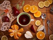 Плодоовощи - здоровые витамины для завтрака Стоковое фото RF
