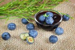 Плодоовощи и варенье голубики Стоковые Фотографии RF