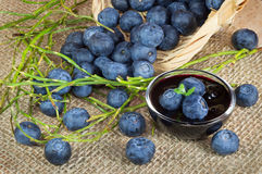 Плодоовощи и варенье голубик Стоковая Фотография