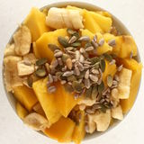 Плодоовощи и семена в шаре Стоковые Изображения RF