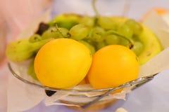 Плодоовощи на таблице Стоковая Фотография