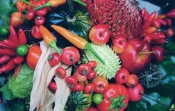 Плодоовощи, овощи и ягоды осени Стоковое Изображение RF