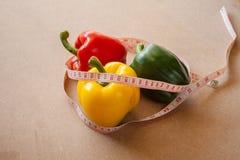 Плодоовощи, овощи, потеря веса, и здравоохранение стоковые изображения