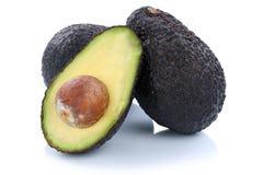 Плодоовощи половины плодоовощ авокадоов авокадоа изолированные на белизне Стоковая Фотография RF