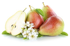 Плодоовощи плодоовощ куска груши груш изолированные на белизне Стоковая Фотография RF