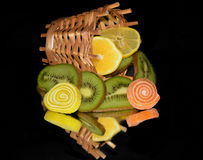 Плодоовощи с candys Стоковое Фото