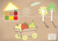 плодоовощи установили овощи также вектор иллюстрации притяжки corel иллюстрация вектора