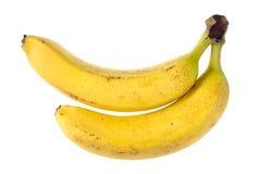 2 плодоовощ банана изолированного на белизне Стоковое Изображение RF