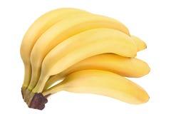 Плодоовощ банана на белизне Стоковые Изображения