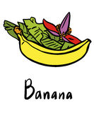 Плодоовощ банана Иллюстрация вектора