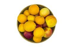 Плодоовощ в шаре изолированном на белизне Стоковое Фото