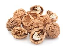 Плодоовощ грецкого ореха на белизне Стоковые Фото