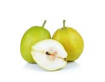 Плодоовощ груши на белой предпосылке Стоковые Фотографии RF