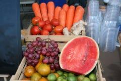 Плодоовощ, закрытый вверх на плодоовощ смешивания стоковая фотография rf