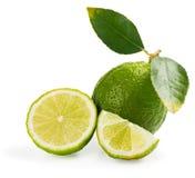 Плодоовощ известки с лист Стоковое Изображение