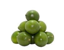 Плодоовощ известок цитруса изолированный на белизне Стоковая Фотография