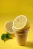 Плодоовощ лимона в конусе мороженого Стоковое фото RF